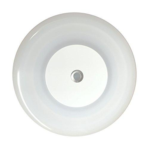 lighteu, 12 V 7 W (12 x 12 x 1 cm) Zwei Farbe (warmes Weiß/Blau) Panel Licht, Gebäude LED-Deckenleuchte mit Noten-Schalter und Touch-Dimmer für Yacht und Caravan, Wohnmobil,