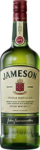 Jameson Irish Whiskey – Blended Irish Whiskey aus feinen, dreifach destillierten Pot Still und Grain Whiskeys – Milder und zeitloser Whiskey aus Irland – 1 x 1 L