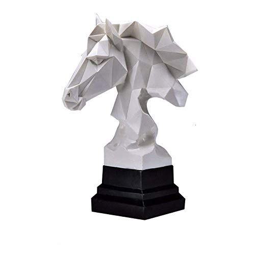 WSJF Abstracto único Estatua Escultura Creativa estatuilla Estatua Estatua decoración Ornamento, nórdico geométrico Blanco Cabezal Cabeza estatuas Animales Escultura Resina artesanía hogar Decoración