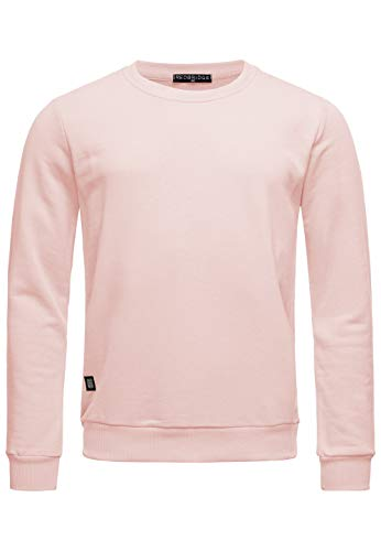 Red Bridge Herren Crewneck Sweatshirt Pullover Premium Basic Pink 4XL