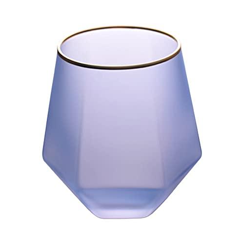 Juego de 2 vasos de 11 oz para agua, leche, zumo, cerveza, whisky, vino I vasos de 11 oz – Juego de 2 (color: morado)
