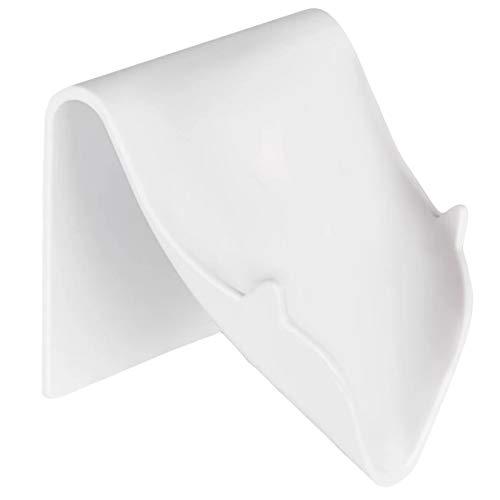 YQ Jabonera Ducha, baño de jabón no Perforado de baño, Soporte de jabón montado en la Pared, Caja de jabón montado en Pared, baño, Estante de baño, Blanco, Negro (Size : Punch-Free Soap Dish)