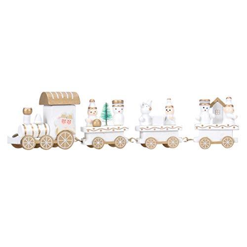 LIOOBO 1 STK. Weihnachten Mini vierteilige Holzeisenbahn kreative runde Kuppel Geschenk Spielzeugeisenbahn Spielzeug Desktop Ornament für Schreibtisch Fenstertisch