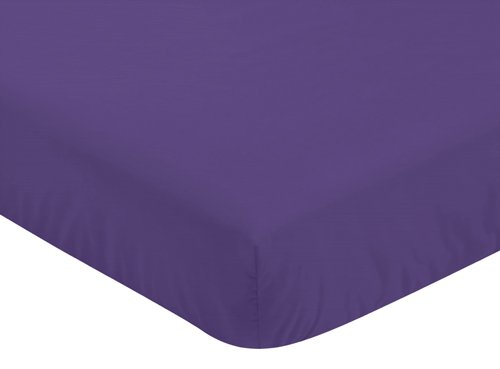 Sweet Jojo Designs Fitted Crib Sheet for Sloane Baby/Toddler Bedding - Purple
