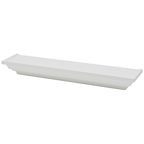 Duraline KlassRegalboden Lack Dekoratives Wandregal, MDF, Weiß, 12.5 x 7.5 x 60 cm
