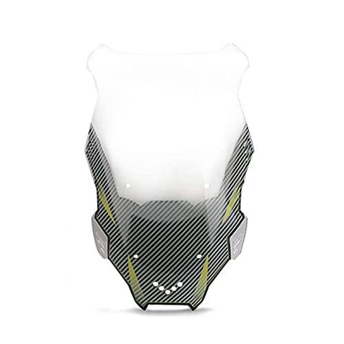 Fit For X-ADV150 19-20, Parabrisas Parabrisas Parabrisas Ondulado Moto Deflector De Viento Parabrisas (Size : Smoke)