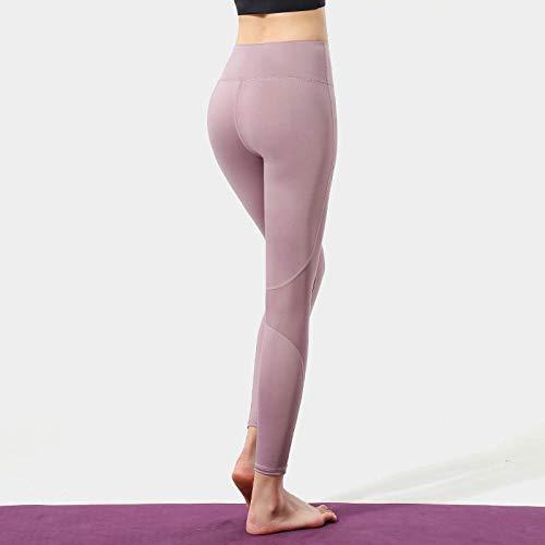 B/H Doux Push Up Confortable Pantalons Jogging,Pantalon de Yoga de vêtements de Soie de Glace de Levage de Hanche de Taille Haute, Pantalon de Jambe de Forme Physique Nue-Cosmetic_M