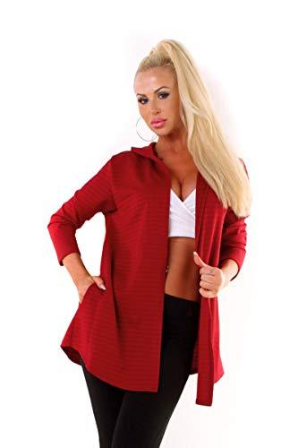 OSAB-Fashion 10036 Damesjas korte jas capuchon Cardigan jas met capuchon zonder sluiting, Streetwear