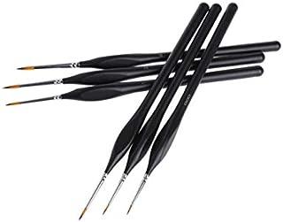 Batreetek 面相筆 塗装筆 ペイントブラシ 毛筆 6本 セット モデル フィギュア 塗装 画筆 水彩 油彩 極細美術画線筆ブラシ