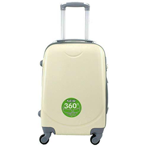 Maleta 4 Ruedas 360º Equipaje para FACTURAR Viajar Viaje 65x45x35cm Beige
