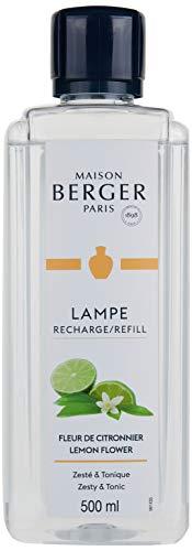 Lampe Berger 115116 Sostituzione della lampada Fragranza Fiore di Limone, Liquido, Argento, 500 ml