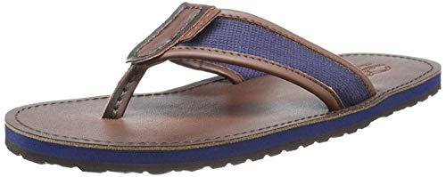 Polo Ralph Lauren Men's Sullivan Flip-Flop,Newport Navy/Dark Brown,8 D US