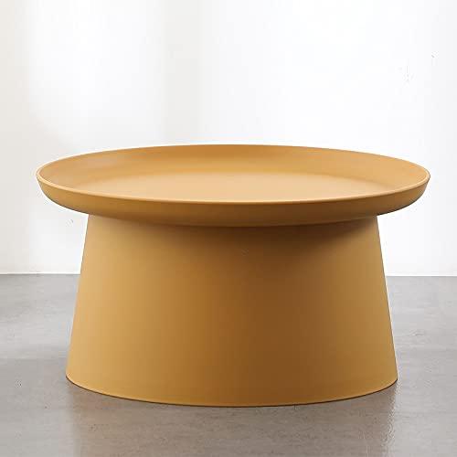 ZGQA-GQA Nórdico Redondo pequeño mesas Laterales Mesa Mesa Sala de Estar plástico Mesa de café Creativo Caja de Almacenamiento Robusto Estable Minimalista (Color : Large Yellow)