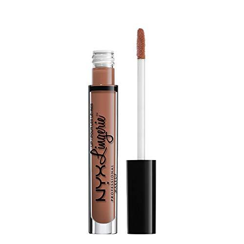 NYX PROFESSIONAL MAKEUP Lip Lingerie Matte Liquid Lipstick - Push-Up, Brown Spice Pink