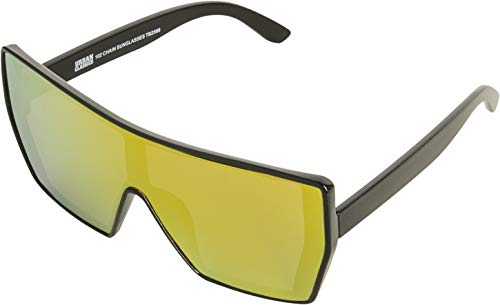 Urban Classics Unisex - Adulto 102 Chain Sunglasses Occhiali da sole, Nero (Blk/Yellow)