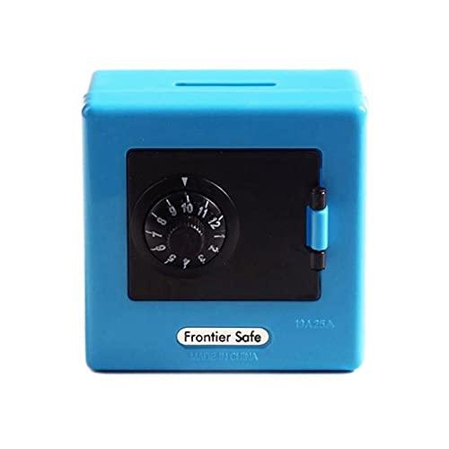 WWWL Hucha 1 PC Mini Money Boxes Combinación Lock Money Moneda Guardar Bandería Cash Piggy Deposit Caja Caja Seguridad Estuche de Almacenamiento Código bancario (Color : Blue)
