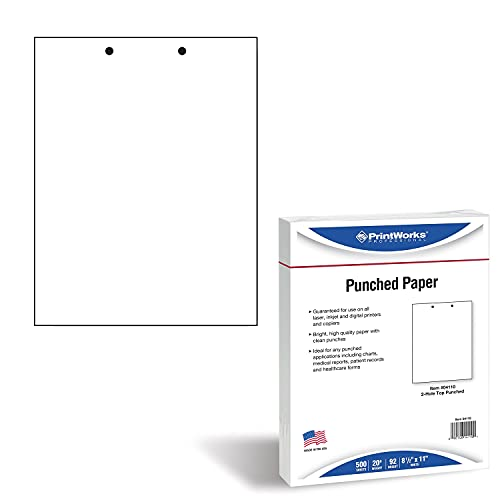 PrintWorks Professional Pre Punched Paper, 2 Hole...