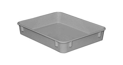 "Toteline 9301085136 Nesting Container, Glass Fiber Reinforce, Plastic Composite, 12.38"" x 9.75"" x 2.13"", Gray"