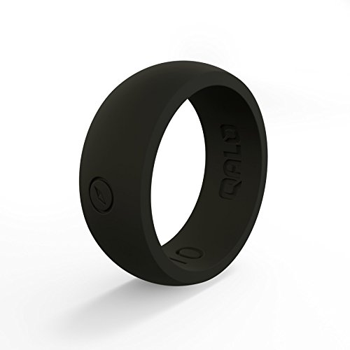 QALO Men's Black Classic Outdoors Silicone Ring Size 11