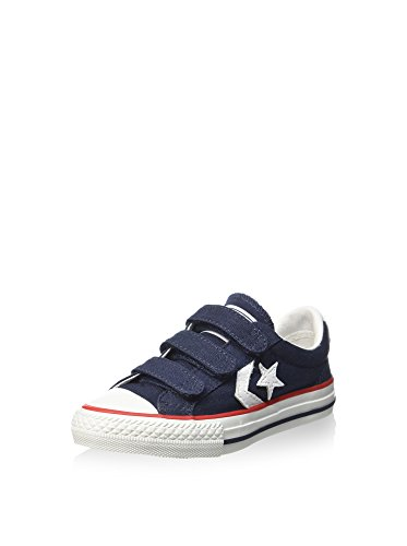 Converse Unisex-Kinder Star Player Ev V Canvas - A2 Sneaker, Marine, 32 EU