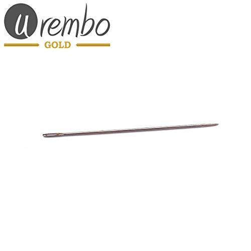Urembo Gold Aiguille droite de tissage, aiguille permettant de coudre des tresses et extensions