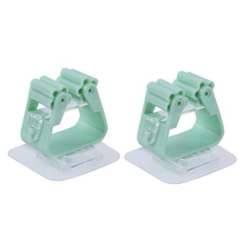 Guangcailun 2ST Badezimmer Dusche-Raum-Wand-Mopp-Halter-Klipp-Rack ABS Material Kleber Pinsel Aufhänger Haus-