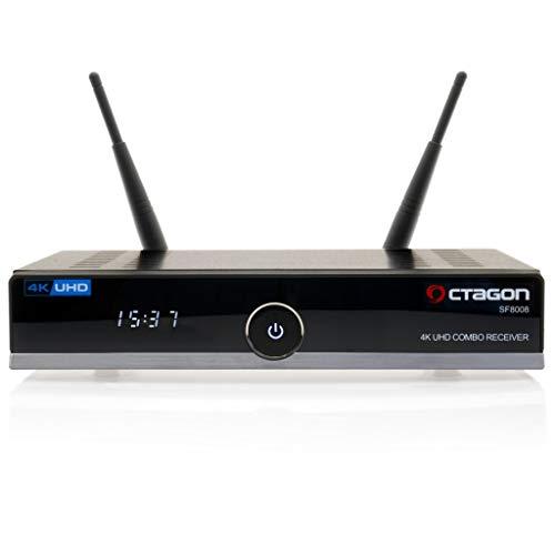 OCTAGON SF8008 4K UHD E2 DVB-S2X & DVB-C/T2+Open ATV vooraf geïnstalleerd met zenderlijst Astra & HOTBIRD incl. HDMi kabel M@tec Digital