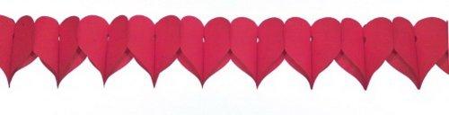 Papier - hartslinger rood, 360 cm