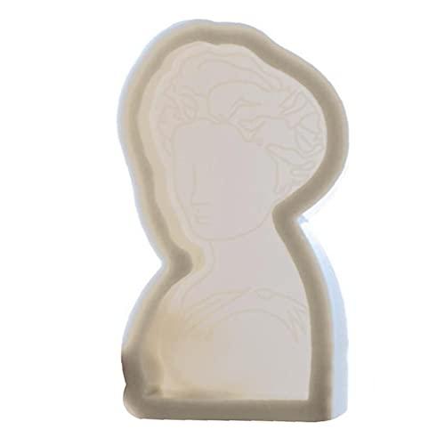 vvd Molde De La Vela del Molde del Silicón DIY 3D De La Forma del Molde Retrato De Regalo Vela Perfumada Craft Hacer Hornear Decoración De Silicona Blanca Kit Moldes