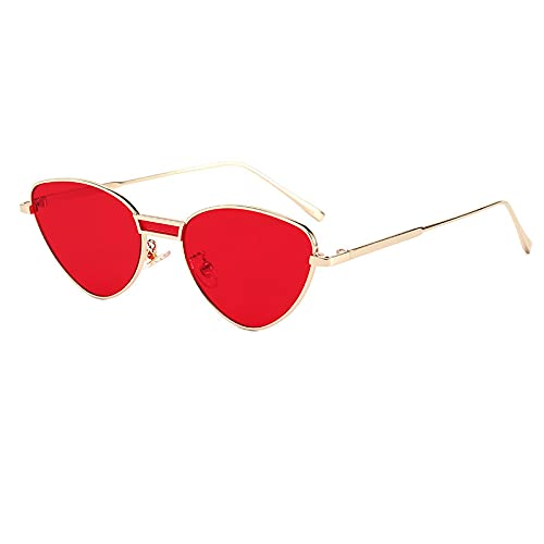 BANLV Gafas de Sol de Ojo de Gato Gafas de Sol de Metal Europeas y Americanas Gafas de Sol de conducción
