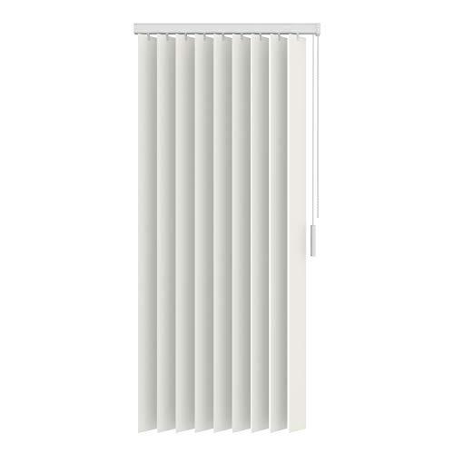 BloomTheRoom Raamdecoratie Gebroken wit Lamellen Kunststof 89mm lichtdoorlatend 200x180 Centimeter