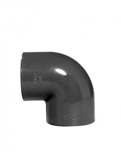 PVC-Winkel 90°, 2x Klebemuffe, 50 mm