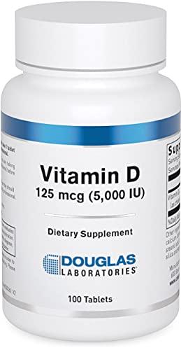 DOUGLAS LABORATORIES - Vitamin D (5,000 I.U.) - Vitamin D3 Health Supplement - 100 Tablets