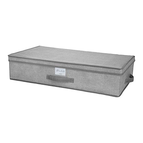Under The Bed Storage Box in Grey 28'x 16'x 6' Fabric