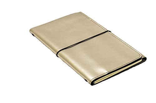 LOUISE CARMEN(ルイーズカルメン) 手帳 ノートカバー フランス製 高級本革 手作りA6スリムサイズ ポケットサイズ ゴールド