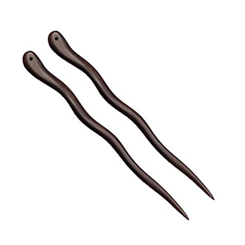 Lurrose 2 piezas de palos para el cabello, estilo chino, acc