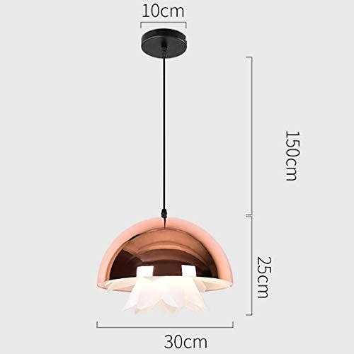 Tritow Moderne Mode Küche Pendelleuchte Hemisphäre Metall Dekorative Kronleuchter Kreative Innenbeleuchtung E27 Quallen Design Schatten Hängeleuchte for Esszimmer Ø30 cm (Color : Gold)