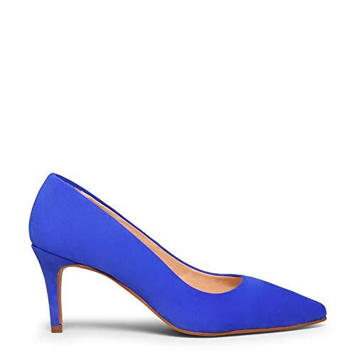 Stiletto Zapato Elegante con tacón Fino Azul ELÉCTRICO