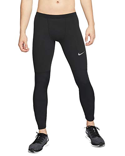 NIKE M Nk Run Tight Thermal Repel Long Sleeve Top, Hombre, Black/Reflect Black