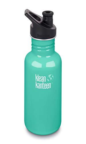 Klean Kanteen Erwachsene Classic mit Sport Cap 3.0 Trinkflasche, Sea Crest, S