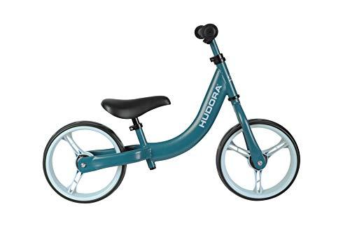 Hudora, bicicletta classica per bambini con ruote extra large da 12 pollici, a partire dai 3 anni, sella e manubrio regolabili in altezza, bicicletta per bambini