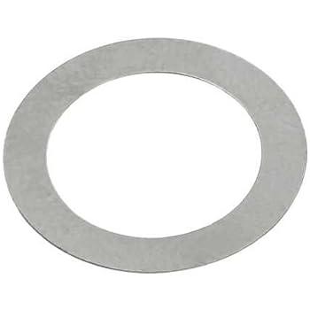 Passscheibe 15x22x0,2 DIN 988 Stahl blank 10 St/ück Ausgleichsscheibe Distanzscheibe flache Unterlegscheibe