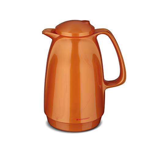 ROTPUNKT Isolierkanne 220 Bella 1,0 l   Zweifunktions-Drehverschluss   BPA-frei - gesundes Trinken   Made in Germany   Warm + Kalthaltung   Glaseinsatz (Shiny Fox)