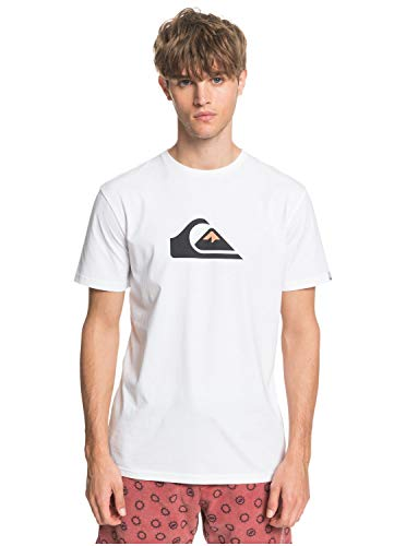 Quiksilver™ Comp Logo Tshirt Tshirt Männer L Weiss