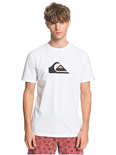 Quiksilver Herren Screen Tee Comp Logo - T-Shirt Für Männer, White, S, EQYZT05750