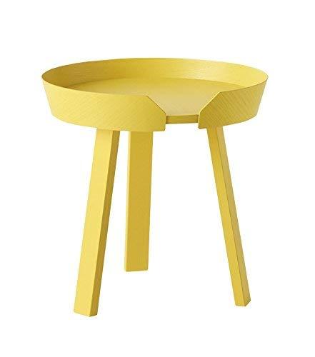 Verstelbare ronde massief houten tafel klein compartiment opbergvak salontafel combinatietafel salontafel grootte optioneel draaibaar (kleur: B, afmetingen: 720 * 375 mm) 450 * 460MM B