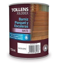TOLLENS - BARNIZ PARQUET AL AGUA MATE 750 ML