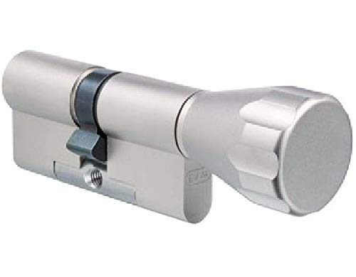 EVVA MCS Knaufzylinder mit 3 Schlüssel + Sicherungskarte, Hochsicherheits-Zylinderschloss mit Knauf, Magnet-Code System, Schließanlage, Länge A:31 mm K:86 mm