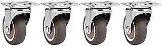 4 stuks TPE-rubberen reserve-zwenkwielen high-performance meubels zachte rubberen wielen met of zonder rem (zonder rem).