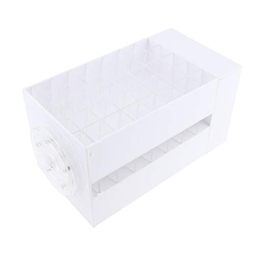 Sharplace 109 Löcher Acryl Cosmetic Organizer Lippenstifthalter Display Divider Stand - Weiß